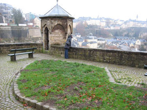 General view of the city of Luxembourg from a viewing platform