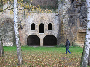 Ruins of the lock of counts and dukes Luxembourg